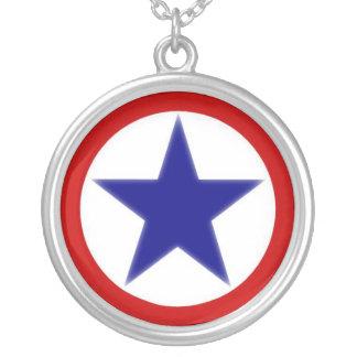 ServicemanBanner Round Pendant Necklace