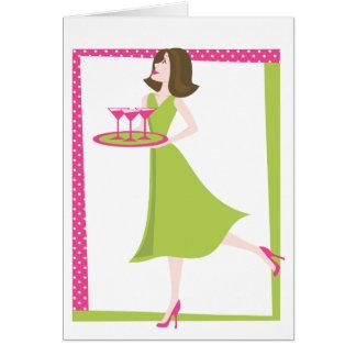 Serving Martinis Card