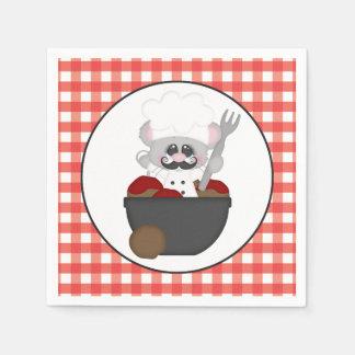 Serving meatballs Italian food fun napkins Paper Napkins