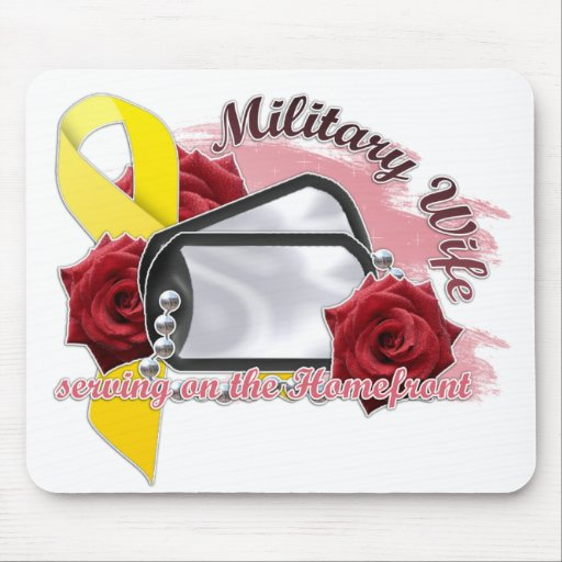 serving on the homefront(military wife) mousepads