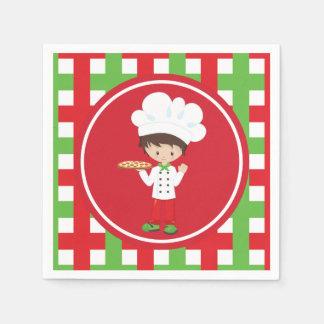 Serving Pizza Italian food fun napkins Disposable Napkin