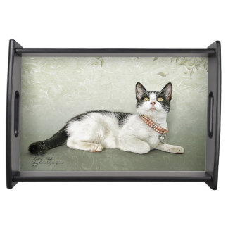 serving tray featuring Cricket