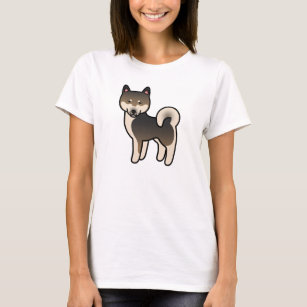 Sesame Colour Shiba Inu Dog Cartoon Drawing T-Shirt