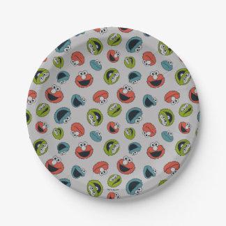 Sesame Street | All Star Team Pattern 7 Inch Paper Plate