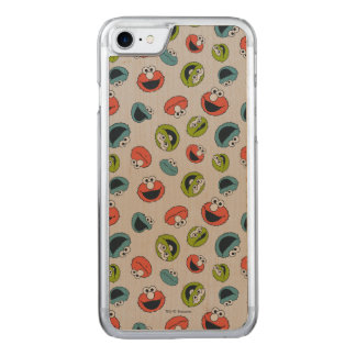 Sesame Street | All Star Team Pattern Carved iPhone 8/7 Case