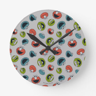 Sesame Street | All Star Team Pattern Round Clock