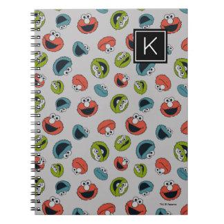 Sesame Street   All Star Team Pattern Spiral Notebook