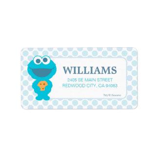 Sesame Street   Baby Cookie Monster Label