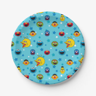 Sesame Street | Best Friends Star Pattern 7 Inch Paper Plate