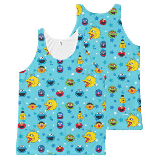 Sesame Street | Best Friends Star Pattern All-Over Print Singlet
