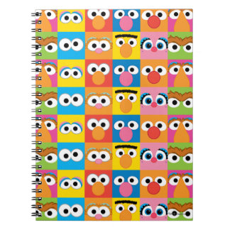 Sesame Street Character Eyes Pattern Notebook