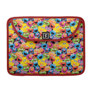 Sesame Street Character Faces Pattern Sleeve For MacBook Pro