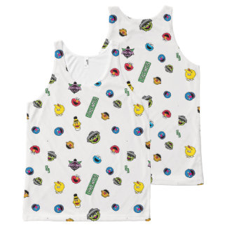 Sesame Street Character Pattern All-Over Print Tank Top