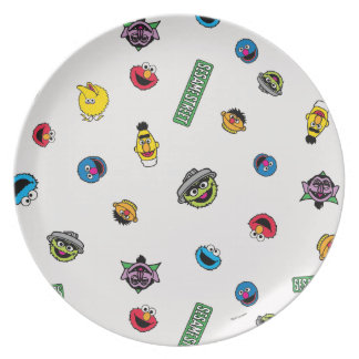 Sesame Street Character Pattern Party Plate