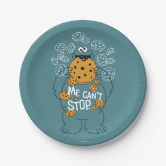 Sesame Street | Cookie Monster - Me Can't Stop 7 Inch Paper Plate