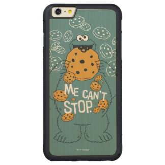 Sesame Street | Cookie Monster - Me Can't Stop Carved® Maple iPhone 6 Plus Bumper Case