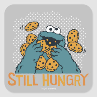 Sesame Street | Cookie Monster - Still Hungry Square Sticker