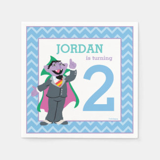Sesame Street | Count von Count Birthday Disposable Napkins
