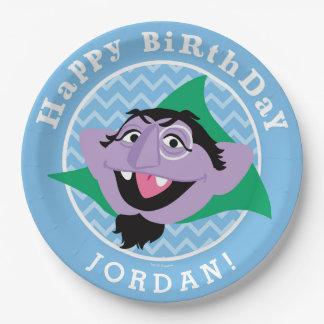 Sesame Street | Count von Count Birthday Paper Plate