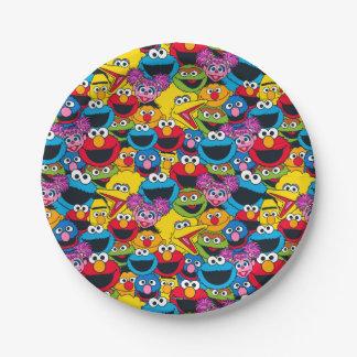 Sesame Street Crew Pattern 7 Inch Paper Plate