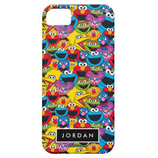 Sesame Street Crew Pattern   Add Your Name iPhone 5 Case