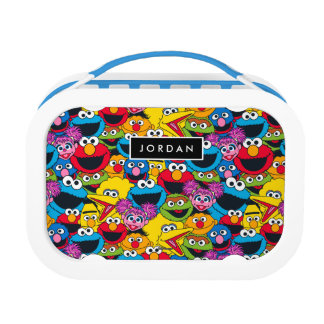 Sesame Street Crew Pattern | Add Your Name Lunch Box