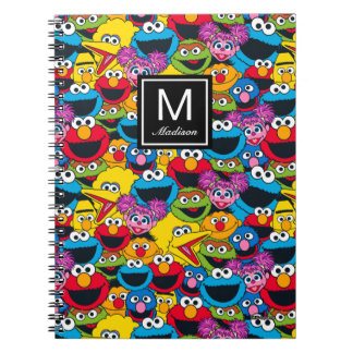Sesame Street Crew Pattern | Add Your Name Spiral Notebook