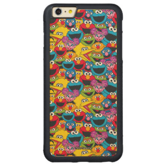 Sesame Street Crew Pattern Carved Maple iPhone 6 Plus Bumper Case