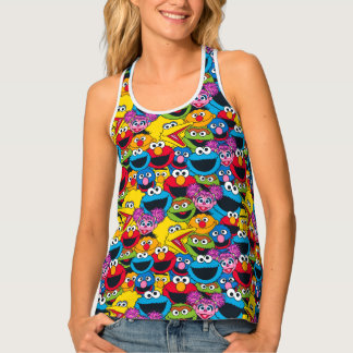 Sesame Street Crew Pattern Singlet