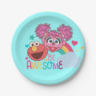 Sesame Street | Elmo & Abby - Be Awesome 7 Inch Paper Plate