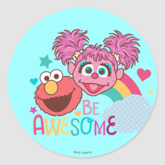 Sesame Street | Elmo & Abby - Be Awesome Classic Round Sticker