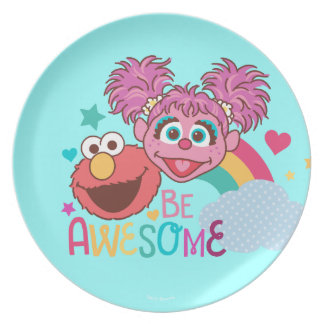 Sesame Street | Elmo & Abby - Be Awesome Dinner Plate