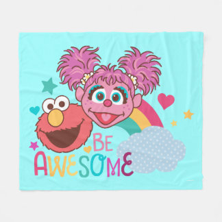 Sesame Street | Elmo & Abby - Be Awesome Fleece Blanket