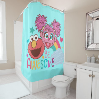 Sesame Street | Elmo & Abby - Be Awesome Shower Curtain