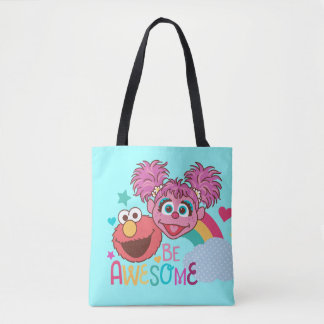 Sesame Street | Elmo & Abby - Be Awesome Tote Bag