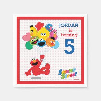 Sesame Street | Elmo and Pals - Birthday Balloons Disposable Serviettes