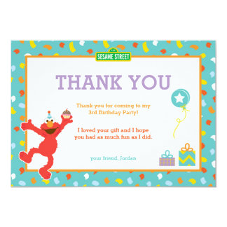 Sesame Street | Elmo - Confetti Birthday Thank You Card