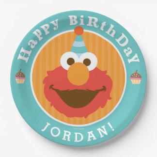 Sesame Street | Elmo - Cupcake & Confetti Birthday 9 Inch Paper Plate