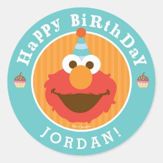 Sesame Street   Elmo - Cupcake & Confetti Birthday Classic Round Sticker