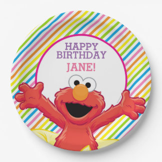 Sesame Street | Elmo Girl's Birthday 9 Inch Paper Plate