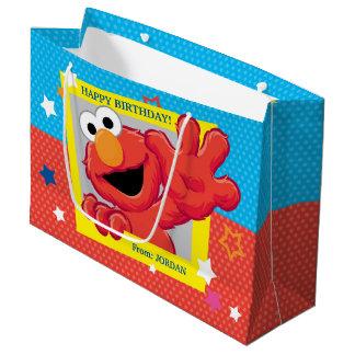 Sesame Street | Elmo - Polka Dot & Stars Birthday  Large Gift Bag