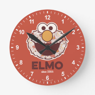 Sesame Street   Elmo Since 1984 Round Clock