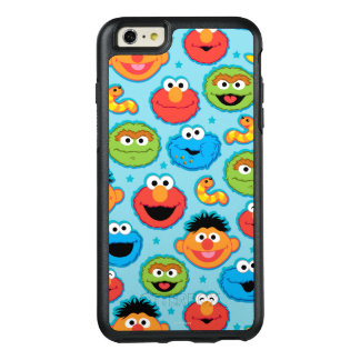 Sesame Street Faces Pattern on Blue OtterBox iPhone 6/6s Plus Case