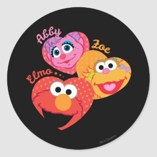 Sesame Street Friends Classic Round Sticker