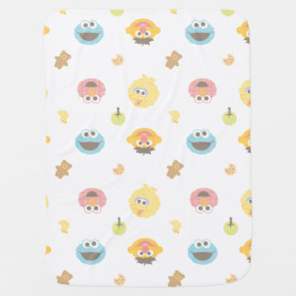 Sesame Street Furry Friends Character Pattern Buggy Blanket