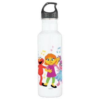 Sesame Street | Julia, Elmo & Abby Dancing 710 Ml Water Bottle