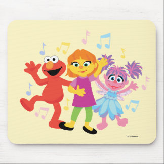 Sesame Street | Julia, Elmo & Abby Dancing Mouse Pad