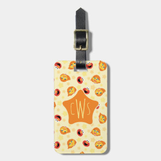 Sesame Street | Julia & Elmo Yellow Star Pattern Luggage Tag