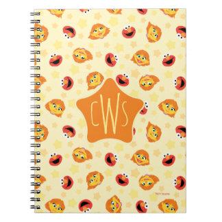 Sesame Street   Julia & Elmo Yellow Star Pattern Spiral Notebook