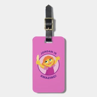 Sesame Street | Julia Holding Feather Luggage Tag